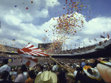 Balloons Being Released During the Opening Ceremony of the Summer Olympics