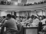 Delegates at the Bandung Conference Listening