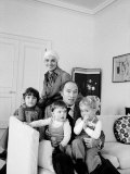 Canadian Prime Minister Pierre Trudeau with His Wife and Children at Home