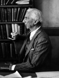 Bertrand Russell Sitting at His Desk at California University at Los Angeles