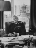 Commissioner Sir Joseph Simpson at Scotland Yard