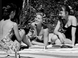 Teenager Suzie Slattery and Freinds Enjoying a Pool Party