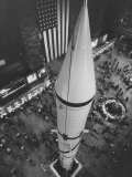 Rocket Being Displayed at Grand Central Station as a Salute to International Geophysical Year