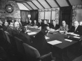 President Dwight D Eisenhower Presiding over First Cabinet Meeting Since His Heart Attack