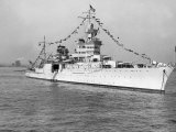 American Cruiser Uss Indianapolis Taken at Anniversary of Statue of Liberty