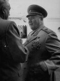 Marshall Andre Yeremenko  Chatting in Station Platform During Tito's Visit to Russia