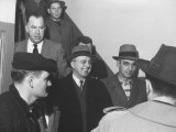 """The""""Mad Bomber"""" George Metesky  after Being Arrested by Nyc Detectives"""