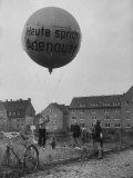 Balloon Being Lifted to Support Konrad Adenauer  During Elections