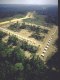 Aerial View of First Agrovilla Set Up Along Transamazon Highway