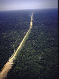 Aerial View of Dirt Raod That Is to Become Part of Transamazon Highway