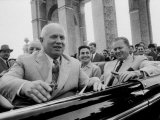 Nikita Khrushchev  with Yugoslav Leader Marshal Tito and His Wife  During their Visit to Russia