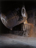 Bessemer Pouring Molten Steel at Birmingham Steel Company