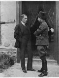 Turkish Leader Mustafa Kemal Ataturk Speaking W His General  Ismet Pasha