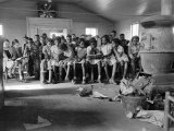 Large Group of Mostly African American Students in a Ramshackle One Room Schoolhouse