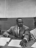 Rev Theodore J Jemison Attending Meeting to Plan Demonstrations Against Segregated Buses