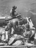 Divers Preparing to Dive to the Sunken Liner Andrea Doria