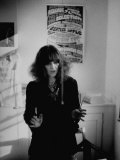 British Advisor to English Hippies Caroline Coon  in Her London Office