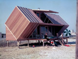 Unusually Shaped Vacation Home of Irwin Hunt and Family on Fire Island  Designed by Andrew Gellar