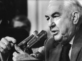 Sen Sam Ervin Questioning Witness During Watergate Hearings