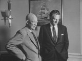 President Dwight D Eisenhower Visiting with Religious Leader Billy Graham at the White House