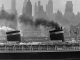 SS United States Sailing in New York Harbor