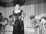 Entertainer Mae West Making Her Nightclub Debut at Hotel Sahara