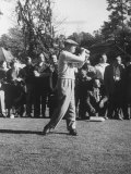 Pres Dwight D Eisenhower  Playing Golf for the First Time after His Heart Attack