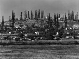 Oil Wells on Signal Hill  California 1947