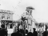 Viceroy Lord Curzon and Lady Curzon Entering into Delhi on an Elephant