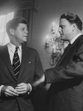 Billy Graham Speaking with President John F Kennedy at a Prayer Breakfast