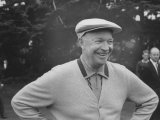 President Dwight D Eisenhower Smiling on Golf Course