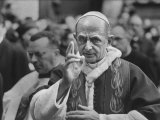 Pope Paul Vi  Officiating at Ash Wednesday Service in Santa Sabina Church