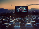 "Actor Charlton Heston as Moses in ""The Ten Commandments "" Shown at Drive-in Theater"