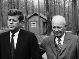 President John F Kennedy Meeting with Former President Dwight Eisenhower at Camp David