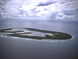 Aeriel View of Keeling Island  Part of Cocos Islands