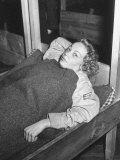 Nazi Woman Lying in Her Bunker at the Us Internment Camp