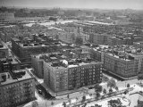 Low Aerial of Harlem Buildings