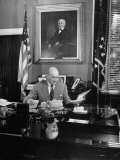 Secy of the Treasury Henry Morgenthau Jr Eating Lunch at His Desk