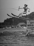 Woman Competing in the National Water Skiing Championship Tournament
