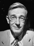 Portrait of Dr Vannevar Bush of Carnegie Inst  Smiling