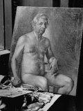 Nude Self-Portrait by Artist Giorgio De Chirico