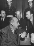 Constantin Neurath  Walter Funk  Albert Speer and Hans Fritsche During the Nuremberg Trials