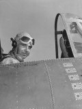 US Navy Flying Ace Lt Edward H O'Hare Sitting in His Plane