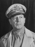 Gen Douglas Macarthur  Posing Seriously for His Portrait