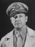 Gen Douglas Macarthur Posing in a Serious Manner for His Portrait