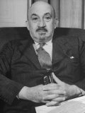 Portrait of Jewish Rabbi  Religious Leader  and Future President of Israel Dr Chaim Weizmann
