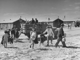 Japanese American Families Arriving at Heart Mountain Relocation Camp