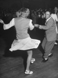Couples Dancing in a Jitterbug Contest
