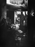 Dark  Filthy  Cluttered Living Room in Alleged Mass Murderer Ed Gein&#39;s House