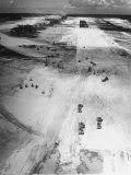 US Navy Seabees Building Runways During Creation of an Air Base